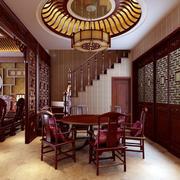 中式风格家用餐厅吊顶