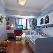 欧式奢华蓝紫色儿童房背景墙
