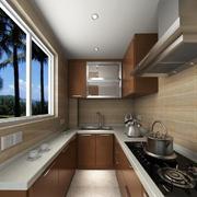 简约棕色原木厨房设计