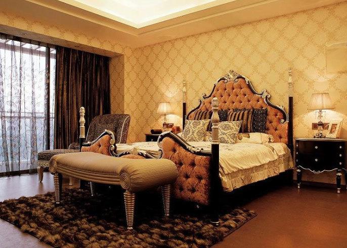 无法超越的奢华:欧式壮观奢华卧室装修效果图