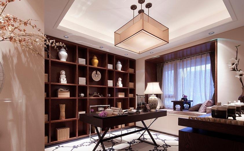 具有书香气息的现代各种风格书房装修效果图