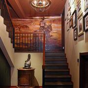 东南亚深色楼梯设计