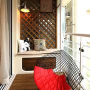 中式简约风格阳台藤椅设计
