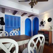 地中海风格三室一厅餐厅设计