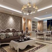 欧式奢华客厅沙发背景墙