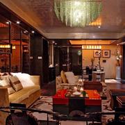 中式风格客厅创意灯饰设计