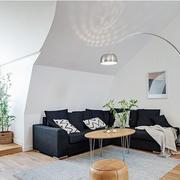 简约风格客厅皮制沙发
