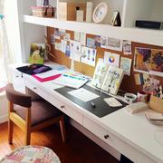 现代简约风格书房置物架设计