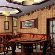 中式四合院客厅背景墙装饰