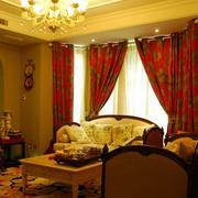 跃层欧式客厅大飘窗设计