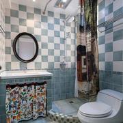 地中海风格卫生间拼色瓷砖墙贴