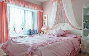 圆你一个公主梦 浪漫粉色的简欧卧室装修效果图