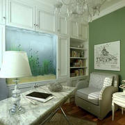 欧式清新色彩书房装饰