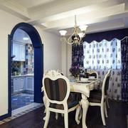地中海风格餐厅拱形门设计