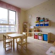 简约原木设计儿童房效果图