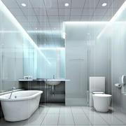 简约风格密集式卫生间设计