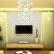 欧式奢华暖色系电视背景墙