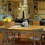 地中海风格简约厨房桌椅装饰