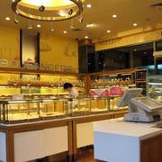 欧式简约风格蛋糕店圆形吊顶装饰