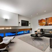 后现代风格别墅简约电视墙装饰