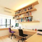 书房原木置物架装饰