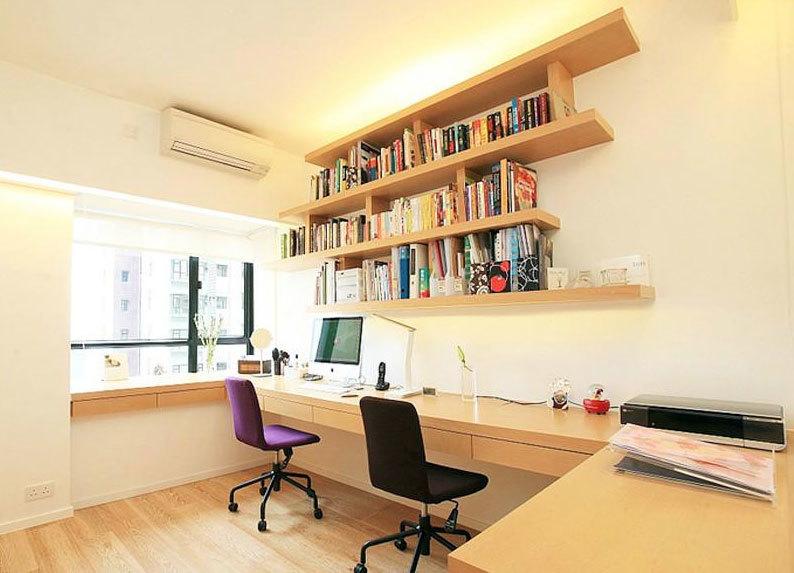 闲暇之余的阅读好场所:家庭精装书房装修效果图片欣赏大全