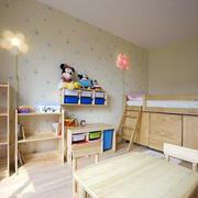 儿童房木制置物架效果图