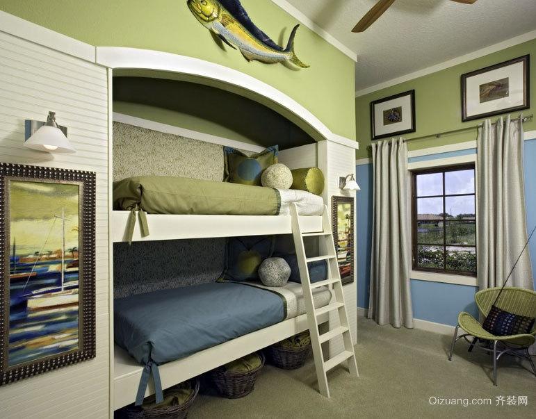 大户型儿童房双层床设计装修效果图鉴赏图片