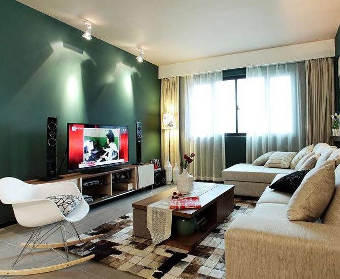 90平米北欧风格宜家客厅背景墙装修效果图实例大全