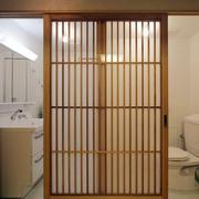 日式卫生间推拉门装饰