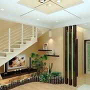 复式楼简约楼梯效果图