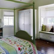 复式楼简约风格卧室飘窗装饰