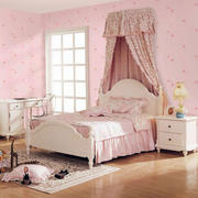 欧式唯美粉色系卧室设计