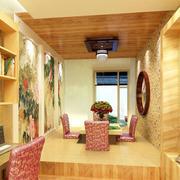 日式原木榻榻米书房
