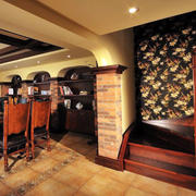 欧式原木风格客厅装饰
