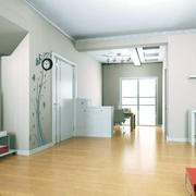 后现代风格原木浅色地板
