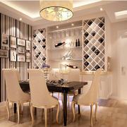 精致奢华客厅酒柜设计