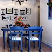 地中海风格餐厅照片墙装饰