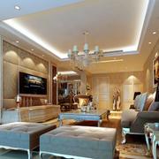 简欧风格客厅室内效果图