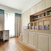 美式原木榻榻米卧室装饰