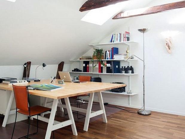 30平米时尚快捷简约的北欧风格书房装修效果图
