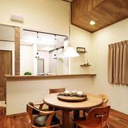 日式餐厅简约原木地板装饰