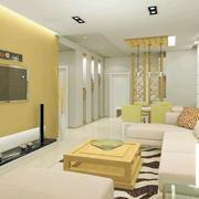 韩式清新风格客厅吊顶设计