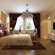 别墅奢华欧式卧室床头背景墙
