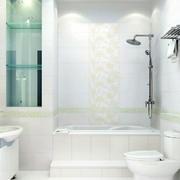白色清新印花瓷砖装饰