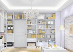 韩式书房整体书柜装修