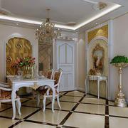 奢华风格餐厅地板装饰