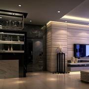 后现代风格客厅酒柜效果图
