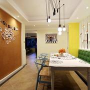 loft风格餐厅背景墙装饰