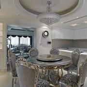 欧式奢华风格餐厅桌椅效果图